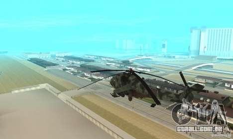 Black Ops Hind para GTA San Andreas traseira esquerda vista