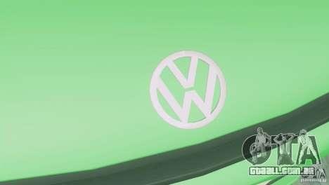 Volkswagen Scirocco para GTA San Andreas vista traseira