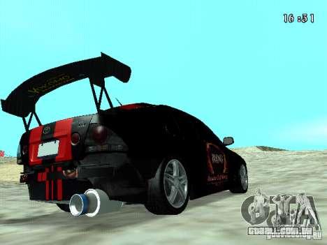 Toyota Altezza NKS Drift para GTA San Andreas traseira esquerda vista