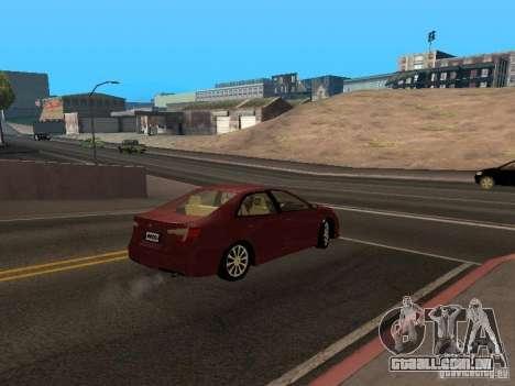 Toyota Camry 2013 para GTA San Andreas vista direita