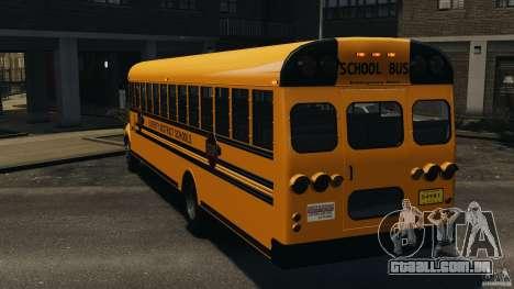 School Bus v1.5 para GTA 4 traseira esquerda vista