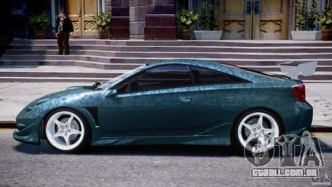 Toyota Celica Tuned 2001 v1.0 para GTA 4 traseira esquerda vista