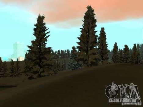 Trilha de inverno para GTA San Andreas sétima tela