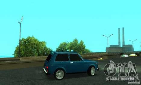 VAZ 21213 NIVA FBI para GTA San Andreas esquerda vista