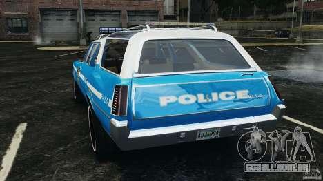Oldsmobile Vista Cruiser 1972 Police v1.0 [ELS] para GTA 4 traseira esquerda vista