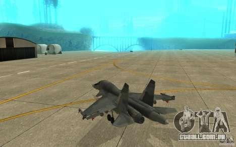 O Su-34 para GTA San Andreas vista direita