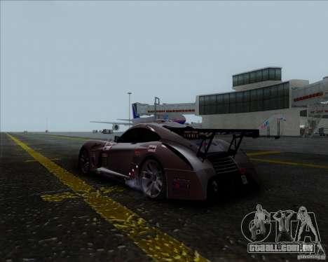 Panoz Abruzzi Le Mans V1.0 2011 para GTA San Andreas esquerda vista