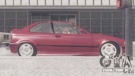 BMW e36 M3 Compact para GTA San Andreas esquerda vista