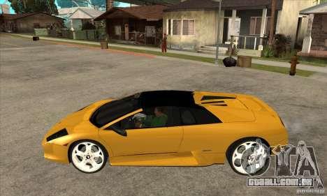 Lamborghini Murcielago Roadster Final para GTA San Andreas esquerda vista