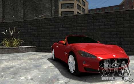 Maserati GranCabrio para GTA 4 vista de volta