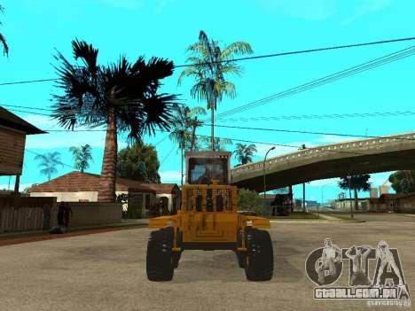 Grader para GTA San Andreas traseira esquerda vista