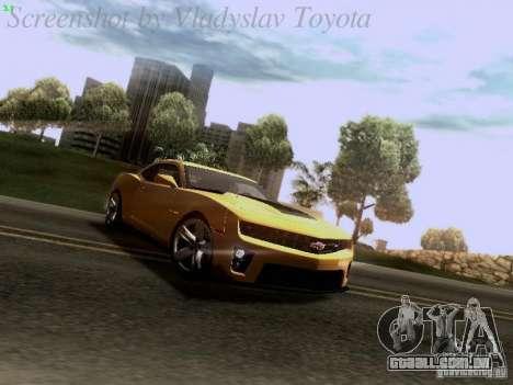 Chevrolet Camaro ZL1 2012 para GTA San Andreas esquerda vista