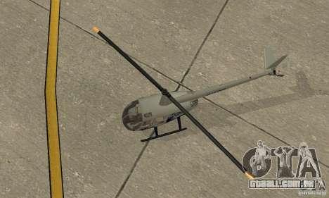 Robinson R44 Raven II NC 1.0 4 de pele para GTA San Andreas vista traseira