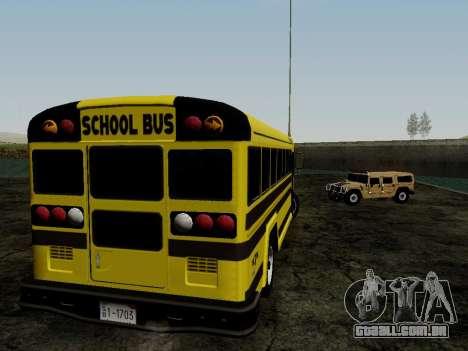 International Harvester B-Series 1959 School Bus para GTA San Andreas vista direita
