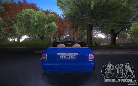 Rolls-Royce Phantom Drophead Coupe para GTA San Andreas traseira esquerda vista