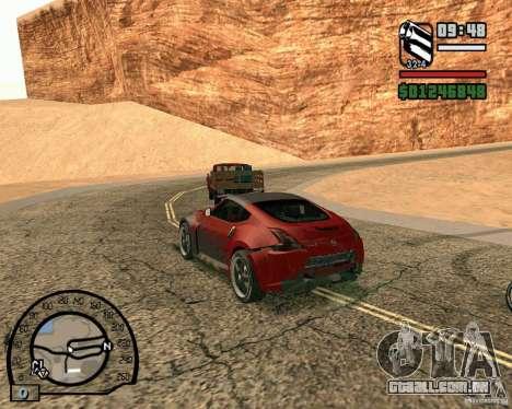 Nissan 370Z Undercover para GTA San Andreas vista traseira