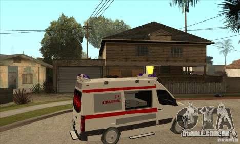 Volkswagen Crafter Ambulance para GTA San Andreas vista direita