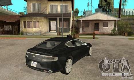 Aston Martin Rapide 2010 para GTA San Andreas vista direita