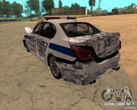 BMW M5 E60 DPS para GTA San Andreas vista inferior