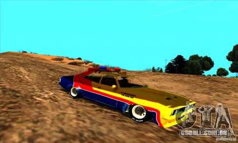 Ford Falcon 351 GT Interceptor Mad Max para GTA San Andreas traseira esquerda vista