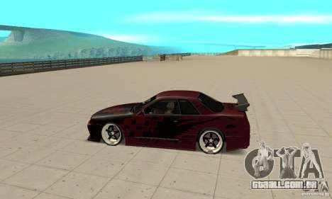 Nissan Skyline R32 Drift Edition para GTA San Andreas esquerda vista
