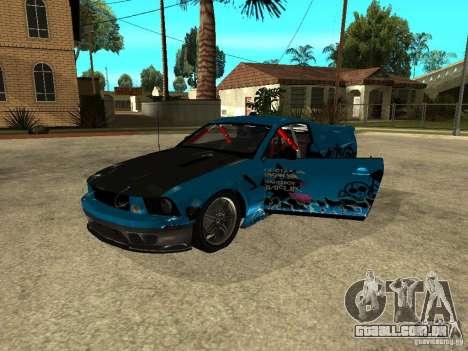Ford Mustang Drag King para GTA San Andreas vista direita