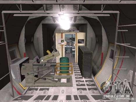 AC-130 Spooky II para GTA San Andreas vista traseira