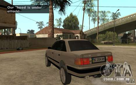 Audi 100 C4 1992 para GTA San Andreas traseira esquerda vista