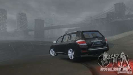 Toyota Highlander 2012 v2.0 para GTA 4 vista interior