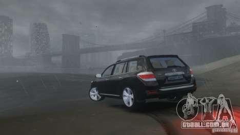Toyota Highlander 2012 v2.0 para GTA 4 vista interior