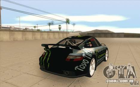 Porsche 997 Rally Edition para vista lateral GTA San Andreas