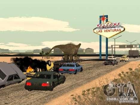 Trailer de dinossauro para GTA San Andreas vista direita