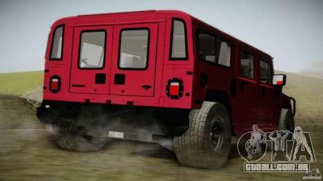 Hummer H1 Alpha Off Road Edition para GTA San Andreas esquerda vista