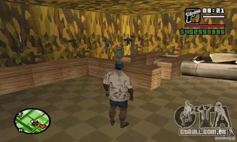 Loja de armas em Grove para GTA San Andreas por diante tela