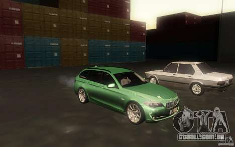 BMW F11 530d Touring para GTA San Andreas vista interior