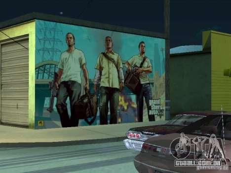 Cartaz de GTA V para GTA San Andreas quinto tela
