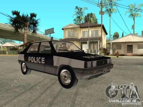 Renault 11 Police para GTA San Andreas traseira esquerda vista