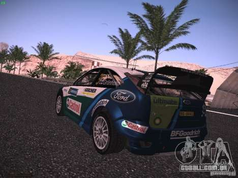 Ford Focus RS WRC 2006 para GTA San Andreas esquerda vista