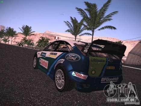 Ford Focus RS WRC 2006 para GTA San Andreas esquerda vista