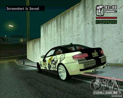 BMW M3 (E92) 2007 para GTA San Andreas esquerda vista