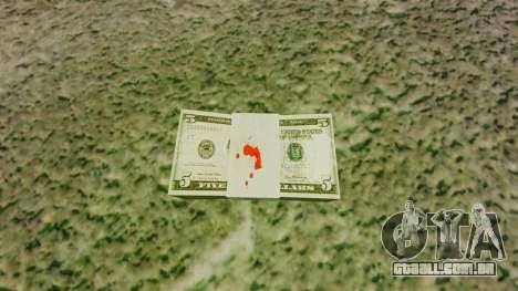 Notas dos Estados Unidos nas notas de $ 5 para GTA 4