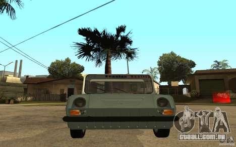 Dkns Inválido para GTA San Andreas vista direita