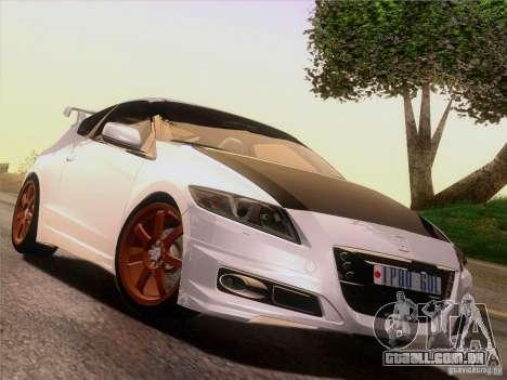 Honda CR-Z Mugen 2011 V2.0 para GTA San Andreas vista inferior