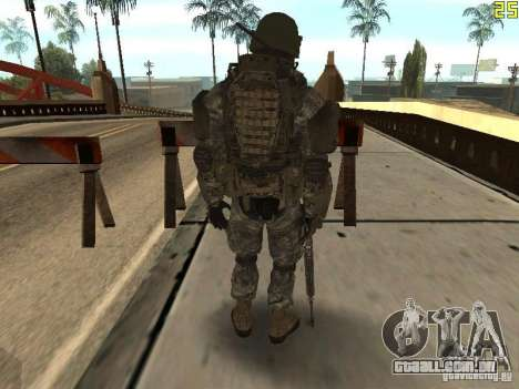 Combate de soldados de CoD: Mw2 para GTA San Andreas terceira tela