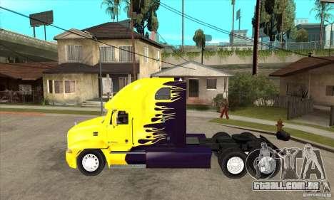 Mack para GTA San Andreas traseira esquerda vista