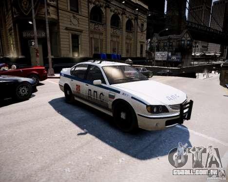 Russian Police Patrol para GTA 4 esquerda vista