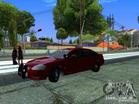 Chevrolet Impala Unmarked para GTA San Andreas traseira esquerda vista
