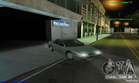 Nissan Silvia S13 Tunable para GTA San Andreas traseira esquerda vista