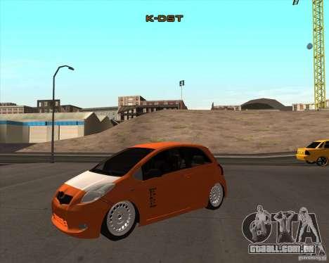 Toyota Yaris II Pac performance para GTA San Andreas vista direita