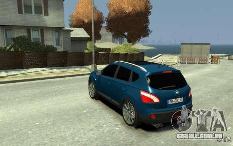 Nissan Qashqai 2010 para GTA 4 traseira esquerda vista